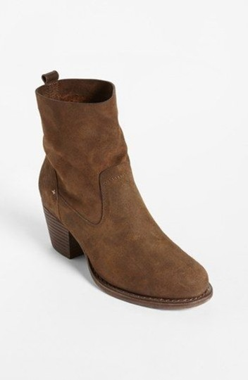 Rag & Bone Waxed Leather Slouchy Brown Boots Image 1