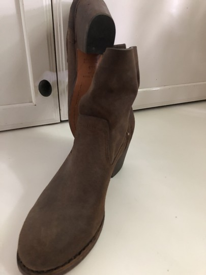 Rag & Bone Waxed Leather Slouchy Brown Boots Image 2