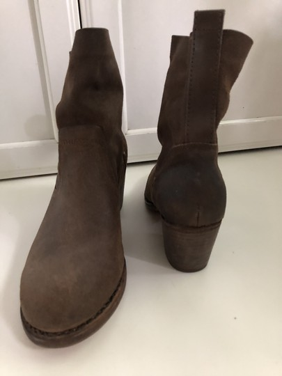 Rag & Bone Waxed Leather Slouchy Brown Boots Image 3
