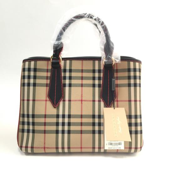Burberry London Tote in Honey / Black Image 1
