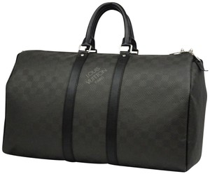 08e073263900 Louis Vuitton Damier Graphite Bandouliere Duffle Boston Black Travel Bag