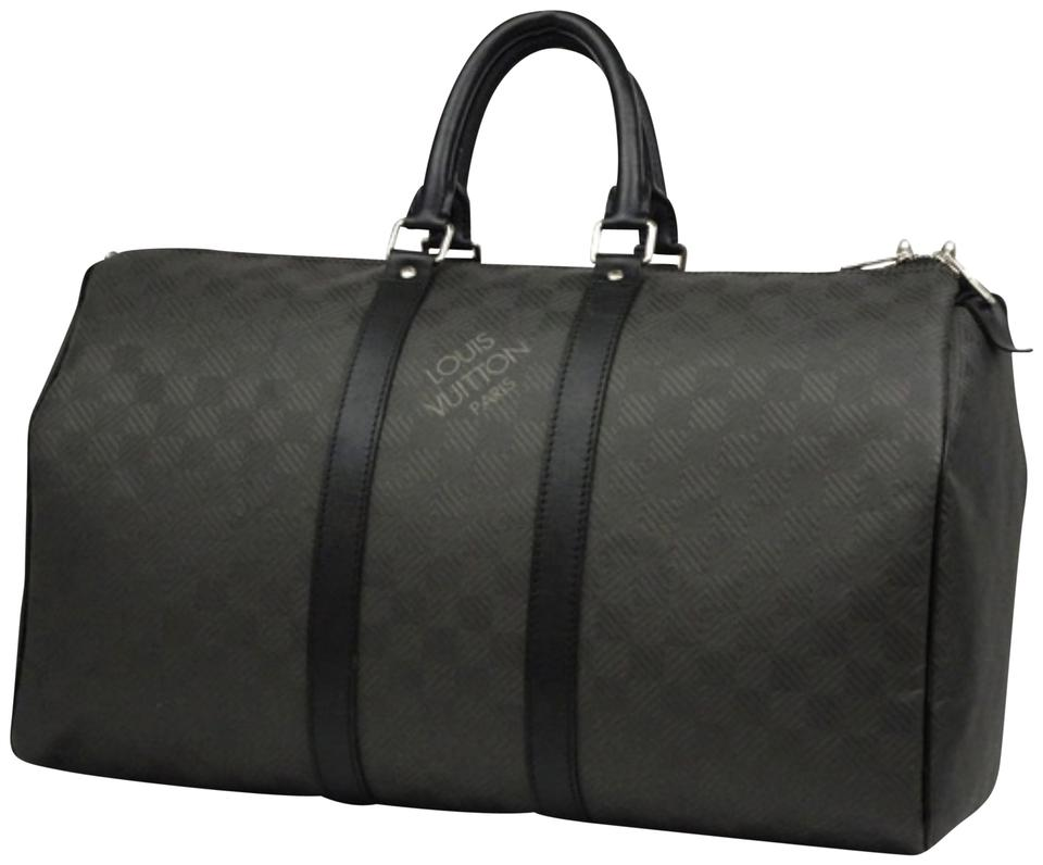 cb885b630ed6 Louis Vuitton Damier Graphite Bandouliere Duffle Boston Black Travel Bag ...