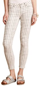 Paige Mid-rise Stretchy Ankle Plaid Skinny Jeans