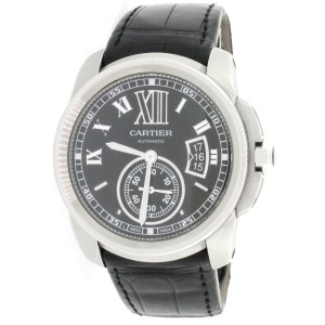 Cartier Cartier Calibre Black Roman 42mm Auto Steel Mens Watch W7100041