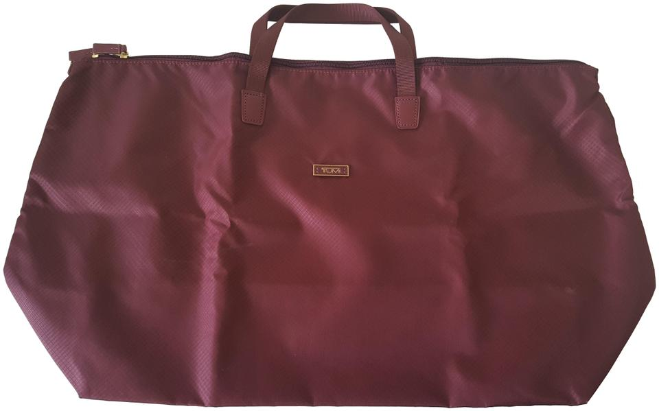 7c7003893 Tumi Voyageur Just In Case Maroon Nylon Weekend/Travel Bag - Tradesy