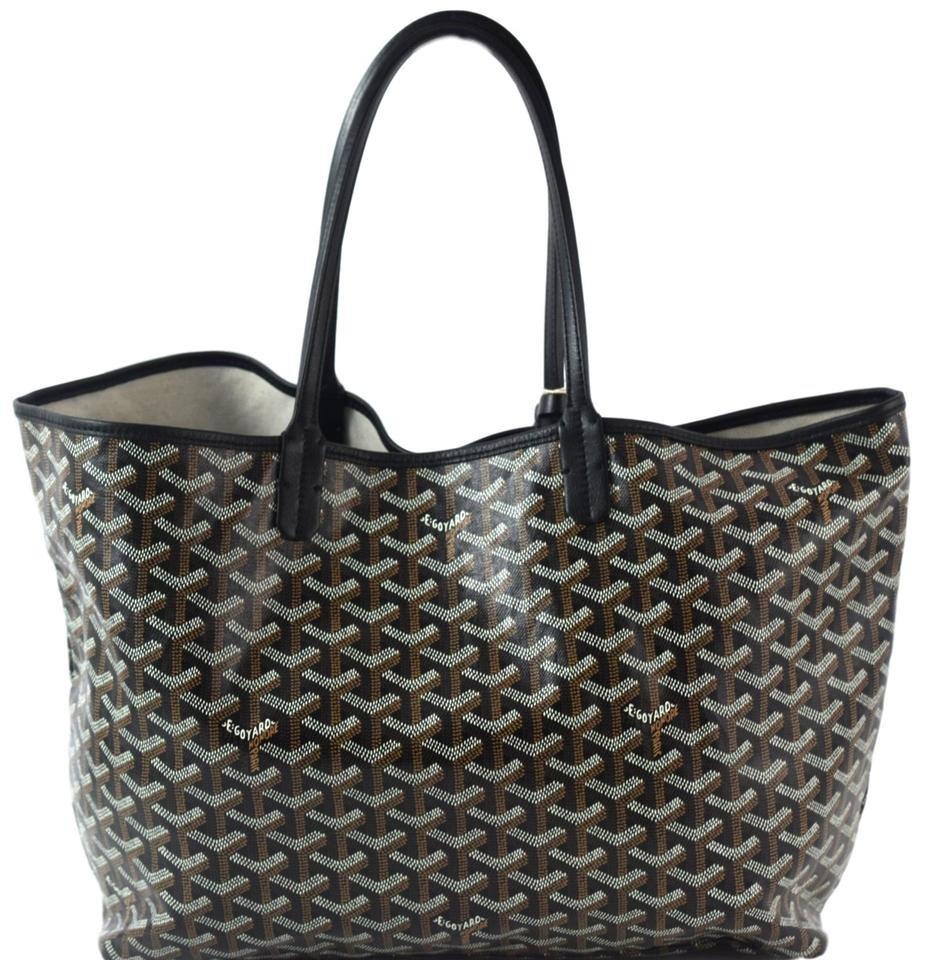 Goyard Pm St Louis Tote Black Canvas qqzd0rwx