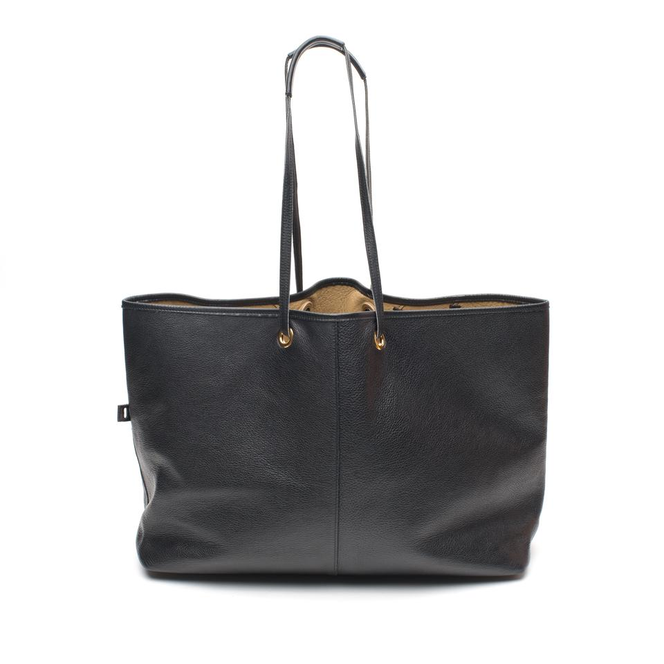Laurent Reversible Leather Black Saint Neo Tote FaRB6q6