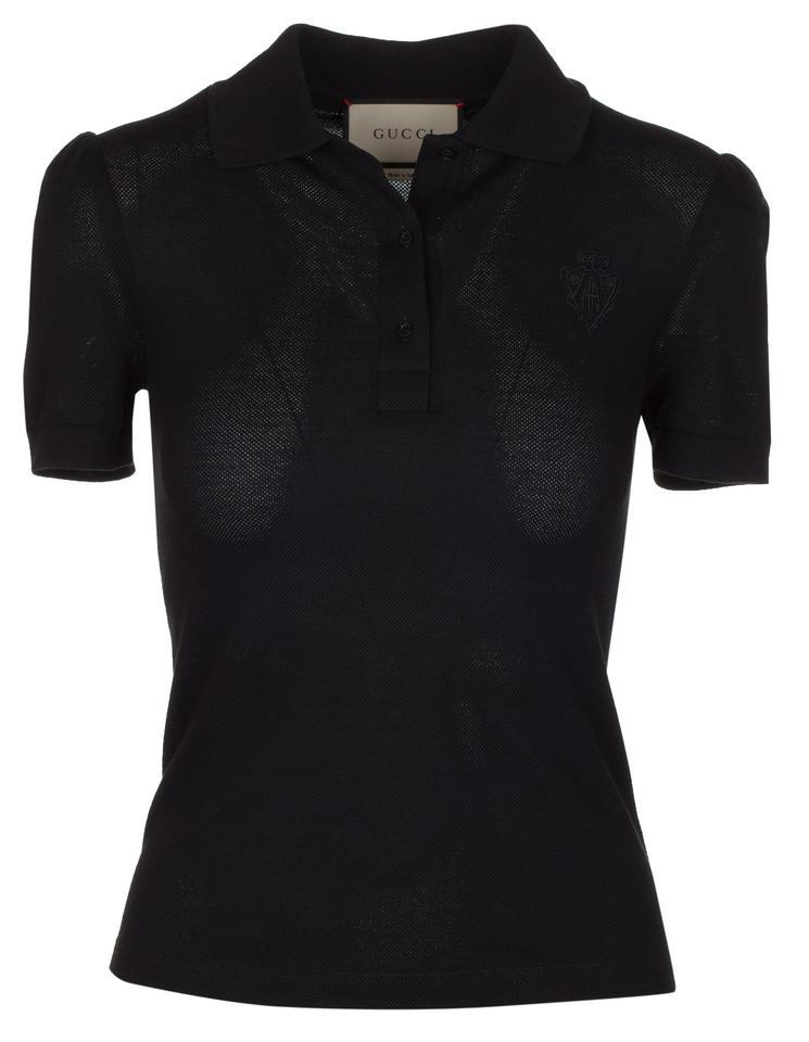 40f7404b0f007 Gucci Black Women s Cotton Sleeve Polo Tee Shirt Size 2 (XS) - Tradesy