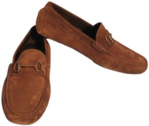 To Boot New York Driving Loafers Men's Suede Grey Flats