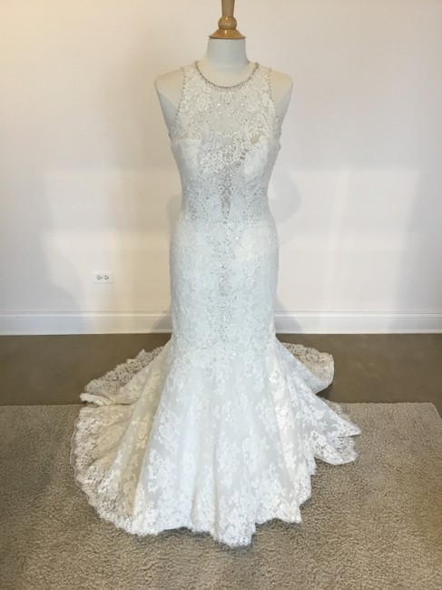Item - Ivory Lace C280 Formal Wedding Dress Size 8 (M)