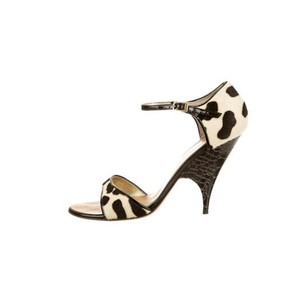 Giuseppe Zanotti Cream and Brown Pumps