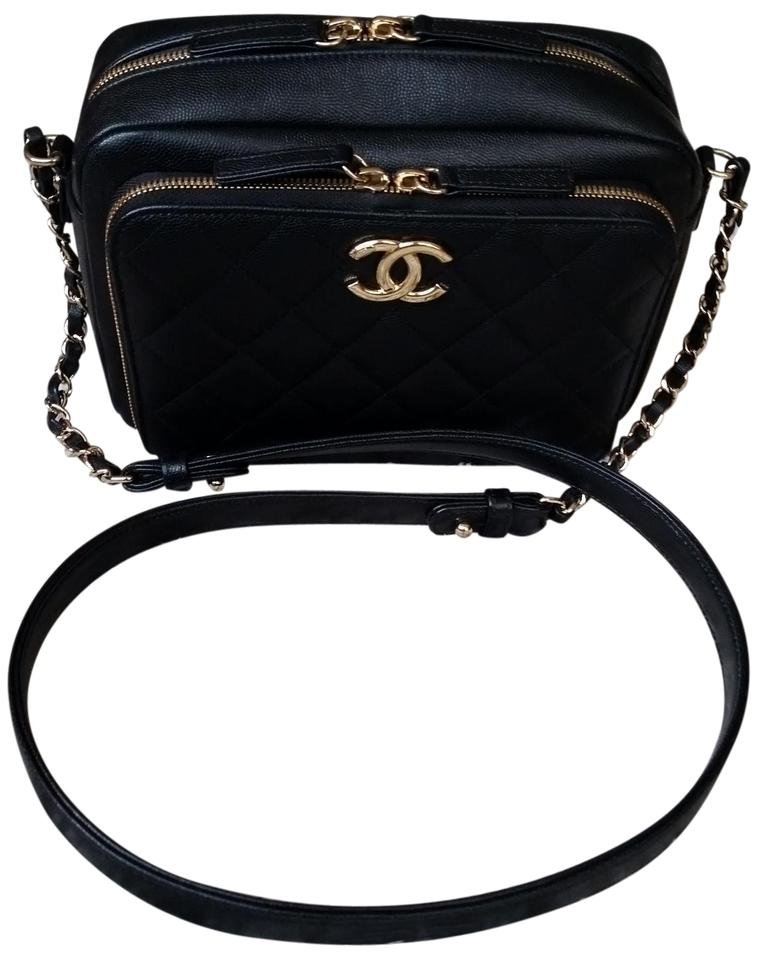 6fca9b33adc2 Chanel Camera Business Affinity Case Quilted Small Week Black Caviar ...
