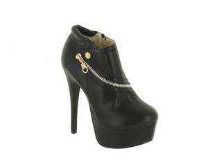 Red Circle Footwear Zipper Sexy Hi Heel Platform Black Boots
