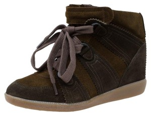 Isabel Marant Two-tone Suede Wedge brown Athletic