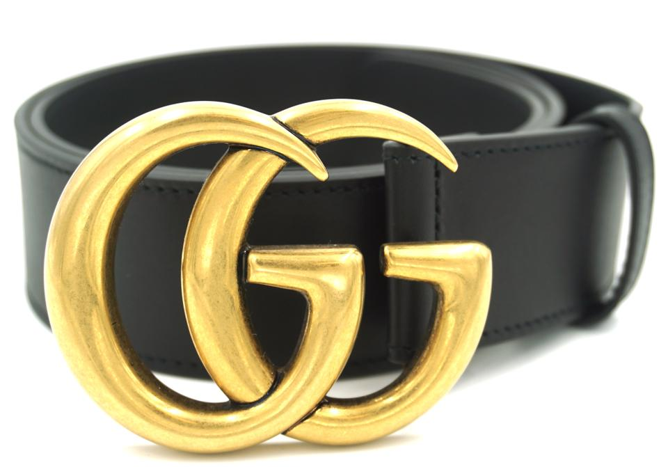 29b63e47f Gucci RARE GG Marmont logo gold buckle leather Belt Size 90 36 Image 0 ...