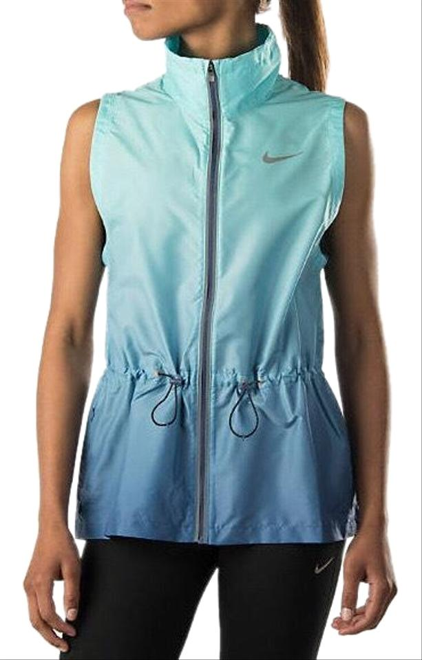 b24e2200bc74 Nike Blue Ombre Gradient Running Activewear Outerwear Size 8 (M ...