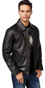 Perry Ellis Man Medium Lamb Skin Portfolio Kors Leather Jacket