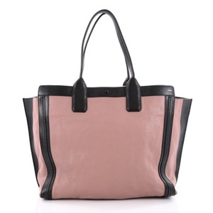 Chloe Leather Tote in Black