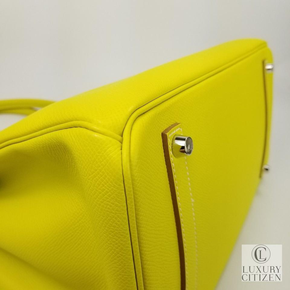 2f9cf75bffee Hermès Birkin 35 Special Edition Epsom Leather Tote in LIME Image 10.  1234567891011