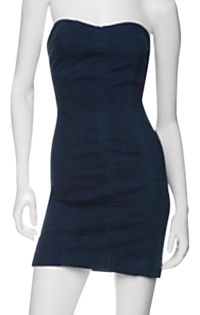 Item - Denim Sweetheart Indigo Short Night Out Dress Size 4 (S)