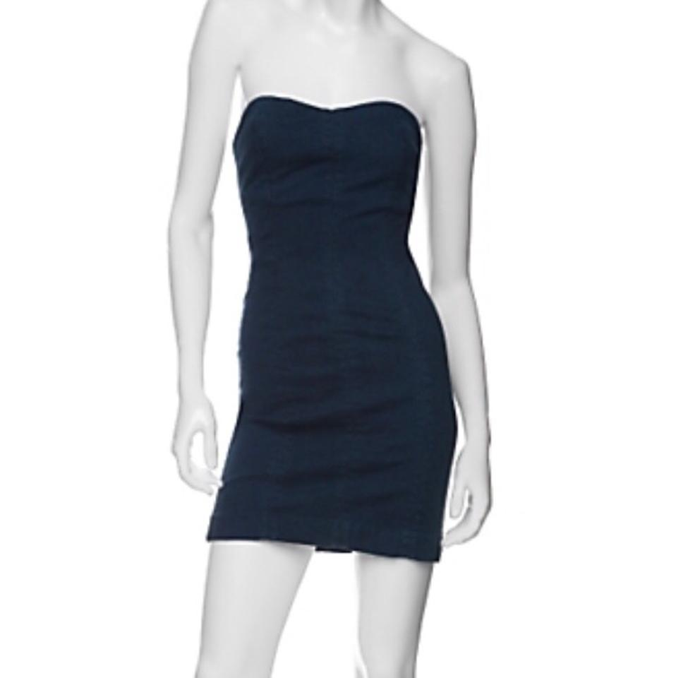 74bc3a1f52 Charley 5.0 Denim Sweetheart Indigo Night Out Dress. Size  4 (S) Length   Short