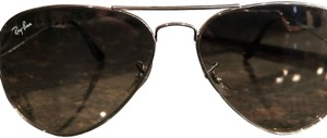 Ray-Ban Ray Ban silver large metal aviator 3025