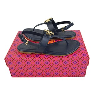 Tory Burch 8.5 Leather Bright Navy Sandals
