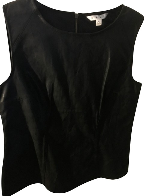 Item - Black Fleather Shell Tank Top/Cami Size 4 (S)