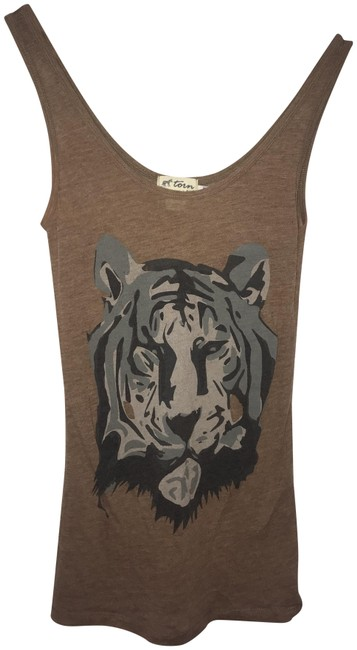 Item - Brown Tiger Tank Top/Cami Size OS (one size)
