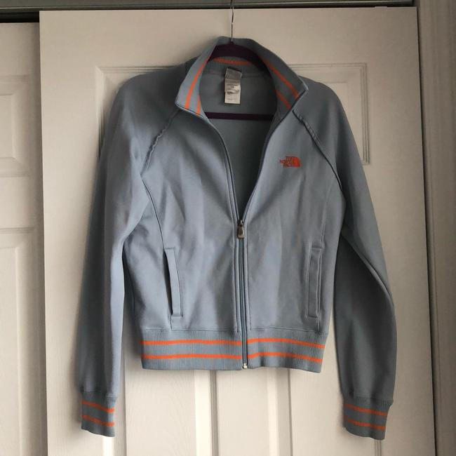 The North Face Gray and Orange Jacket Image 1