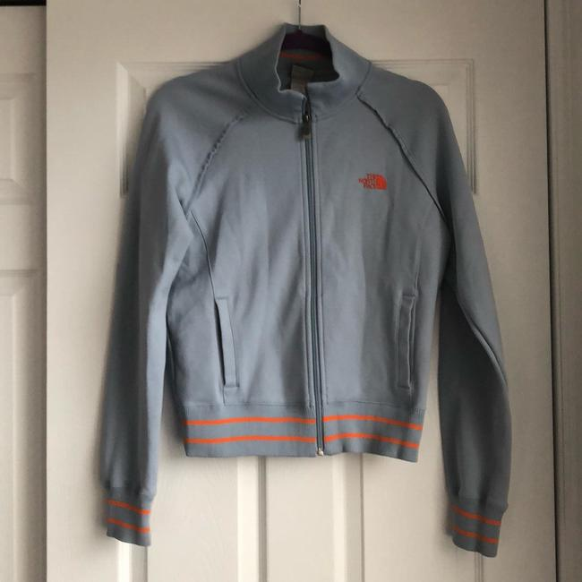 The North Face Gray and Orange Jacket Image 2