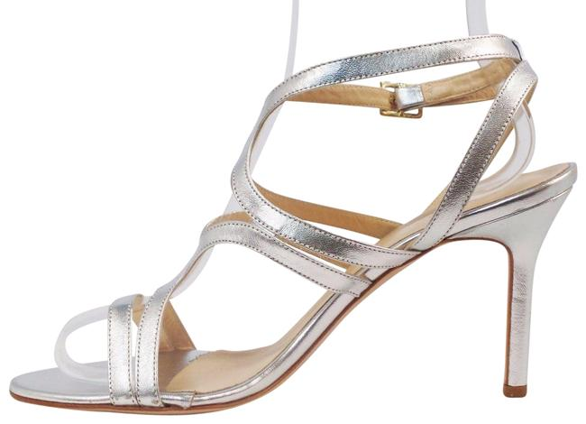 Item - Silver Emily Formal Nappa Leather Heels M Sandals Size US 9.5 Regular (M, B)