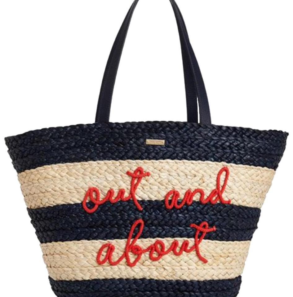 771e57fba4f5 Kate Spade New York Out and About Straw New Multicolor Tote - Tradesy