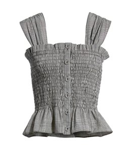 Lewit Top Smocked Check new with tags