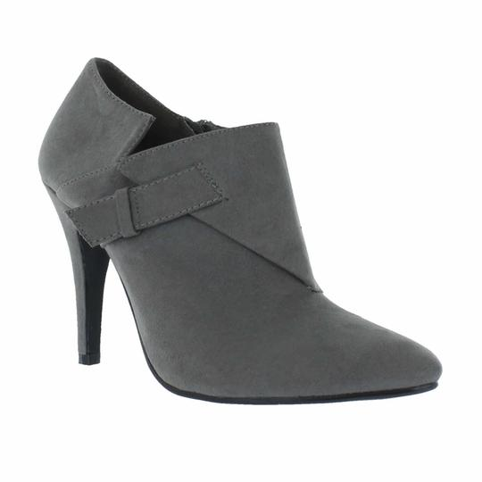 Red Circle Footwear Pointy Heels Black Boots Image 1