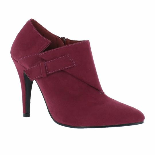 Red Circle Footwear Pointy Heels Wine Boots Image 1
