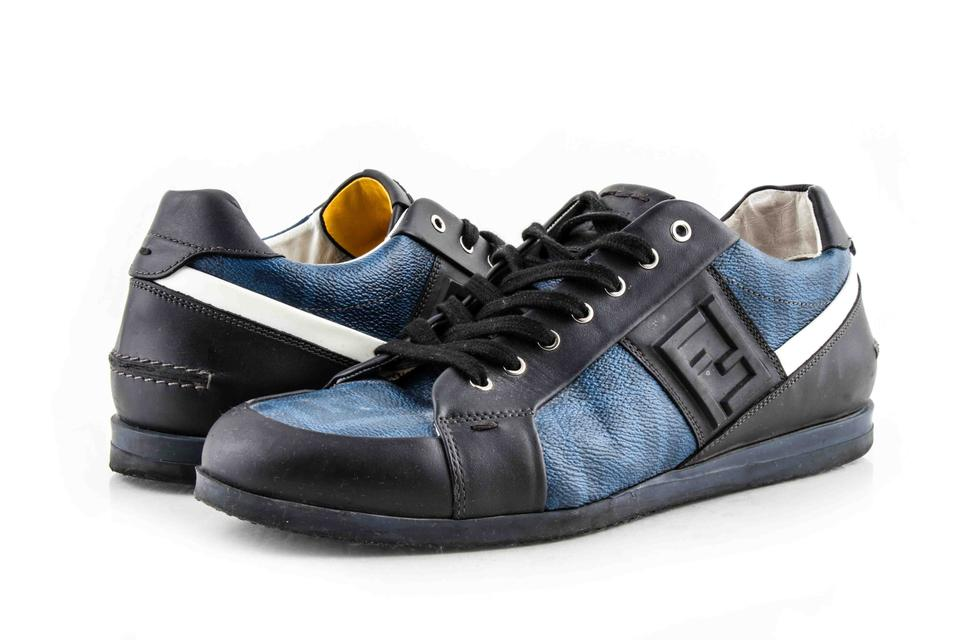 e346d018 Fendi Black / Blue Men's Leather Low-top Sneakers Shoes 36% off retail