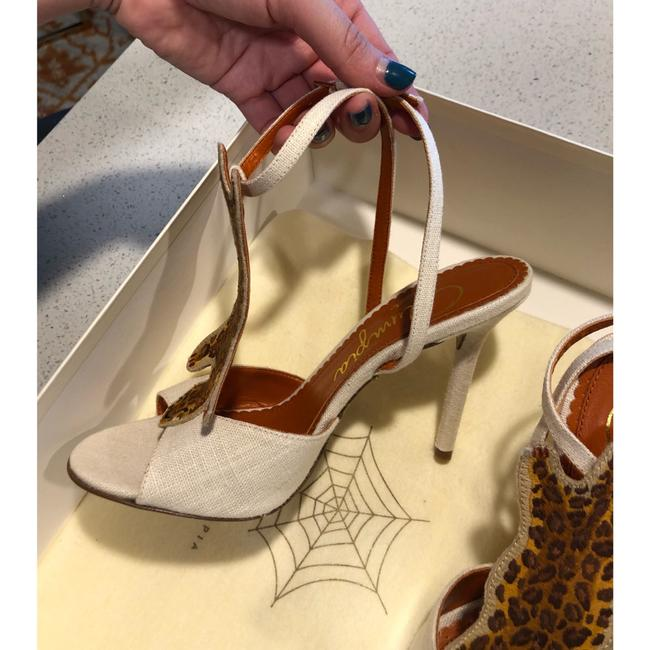 """Charlotte Olympia Ivory Brown Canvas """"african Queen """" Leopard Sandal 36 Pumps Size US 6 Regular (M, B) Charlotte Olympia Ivory Brown Canvas """"african Queen """" Leopard Sandal 36 Pumps Size US 6 Regular (M, B) Image 8"""