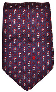 Céline CELINE 100% All Silk Nautical / Equestrian Navy Skinny Necktie Tie
