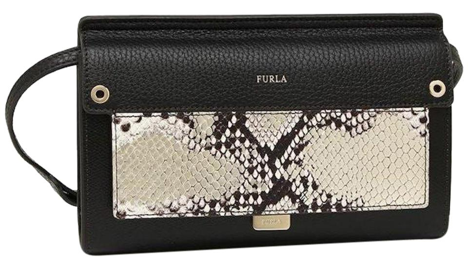 Snake Furla Bag Leather Cross Black Body x0W4A1qCw