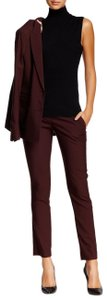 Theory Straight Pants Bordeaux