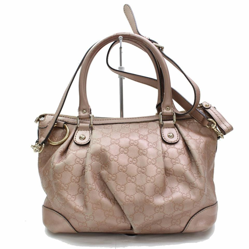 12a35d7c1204 Gucci Sukey Guccissima 2way 867426 Pink Leather Shoulder Bag - Tradesy
