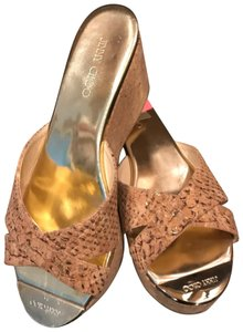 Jimmy Choo Beige with mixed colors Wedges