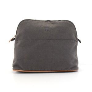 Hermès Hermes Trousse Bolide 30 Gray Cotton Cosmetic Pouch