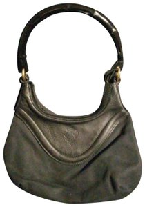 e2012a00eb0649 Gucci Black Canvas and Leather with Bamboo Handle Hobo Bag - Tradesy