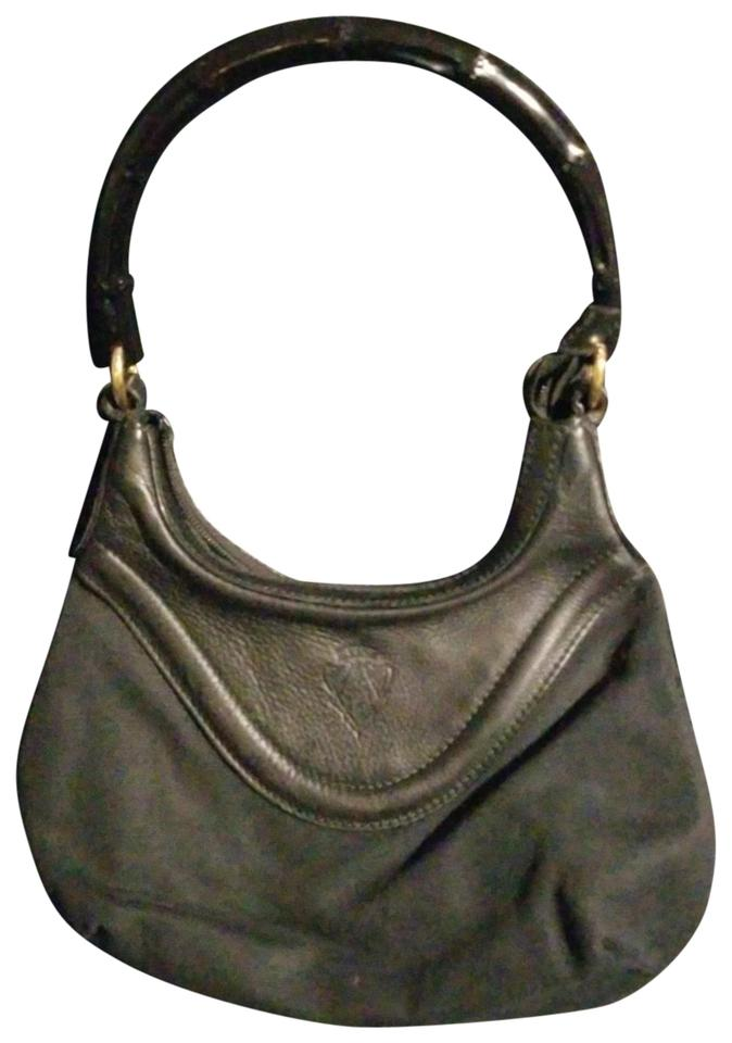 8a94db4d1b00 Gucci Black Canvas and Leather with Bamboo Handle Hobo Bag - Tradesy