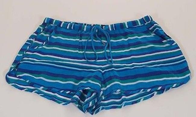 C&C California C 84m03h06ds Womens Blue Greeen Peacock Stripe Mini Shorts Multi-Color