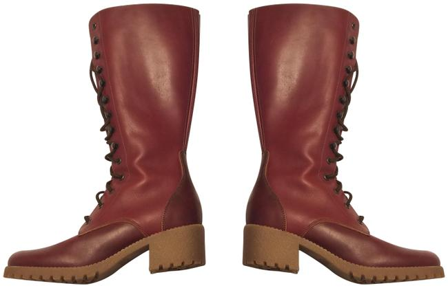 Item - Red Brown Combat Tall Boots/Booties Size US 5 Regular (M, B)