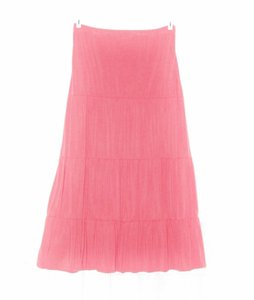 Chadwicks New Without Tags Talls Xlt Tiered Knit Maxi Skirt Coral, Pink, Orange