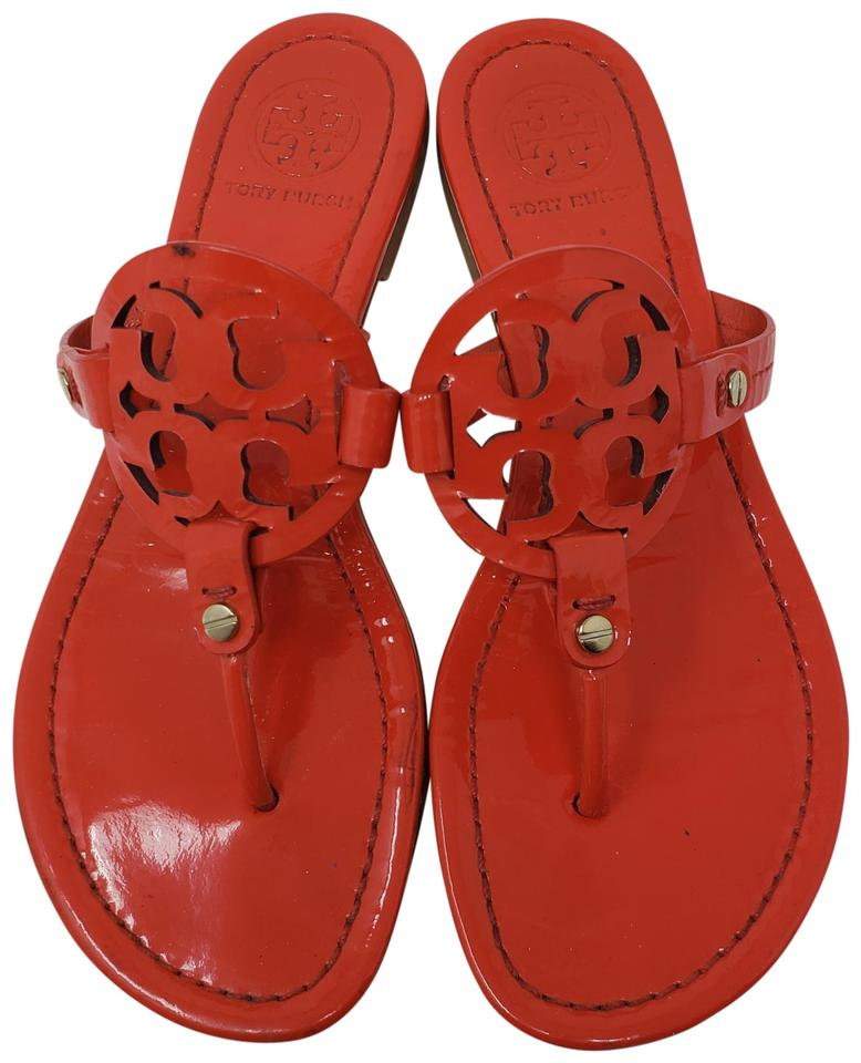 Tory Miller Burch Red Patent Leather Miller Tory 38 Sandals 388176